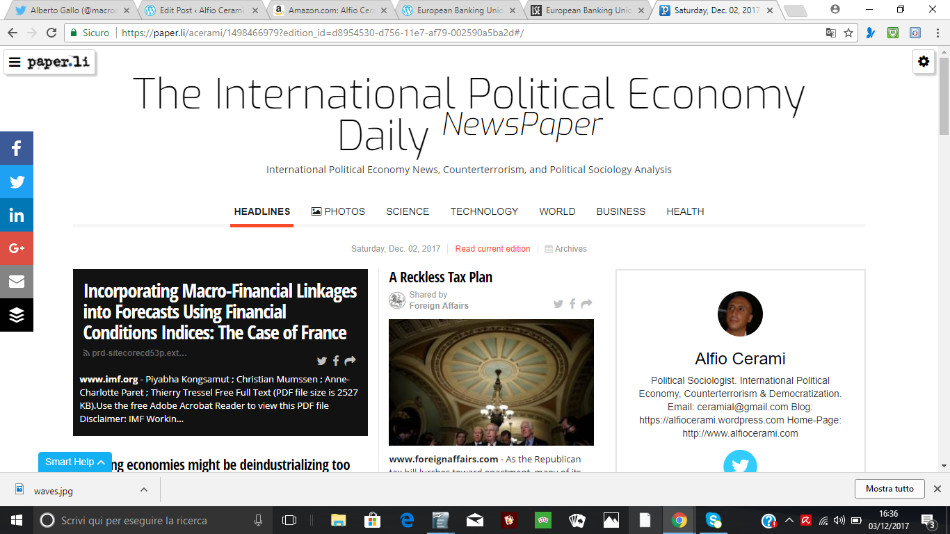 The International Political Economy Daily NewsPaper